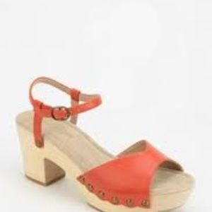 Restricted Colby Platform Sandals - Orange - Siz 9